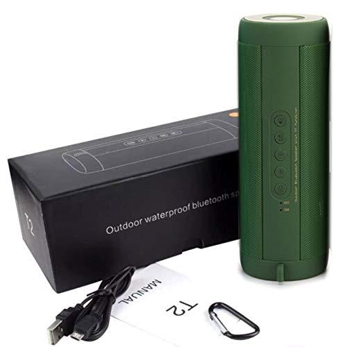 GKJ Altavoz portátil Bluetooth 360 ° Sonido estéreo 20W IPX7 Impermeable Inalámbrico Bluetooth 5.0 Altavoz Tiempo de Juego de 24 Horas
