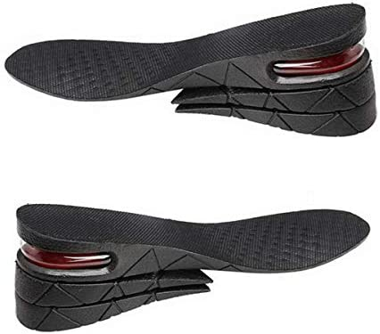 Height Increase Insoles Air Cushion Taller Shoes Insoles 4-Layer Heel Insert for Men