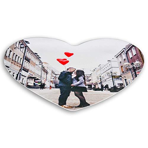 Essbares Foto Herzförmig für Torten, Tortenbild, Tortenaufleger mit eigenem Foto sofort frei gestalten - Beste Qualität (Herz ca )