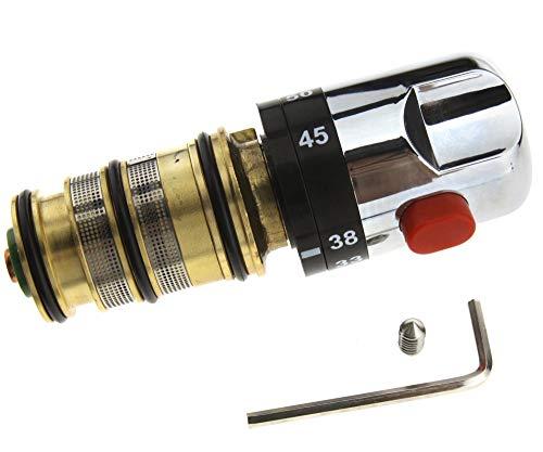 Thermostatmischer Thermostat-Mischer Thermostatventil Duschthermostat Duscharmatur Messing 20-50 °C, Brausethermostat Mischbatterie für Dusche