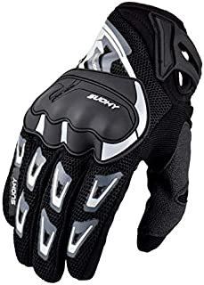 Motorcycle Gloves, Shockproof Summer Breathable Mesh Motorcycle Gloves Men, Windproof Non-Slip Motorcycle Gloves Men for Racing Motorcycle Riding Equipment Motorcycle Equipment