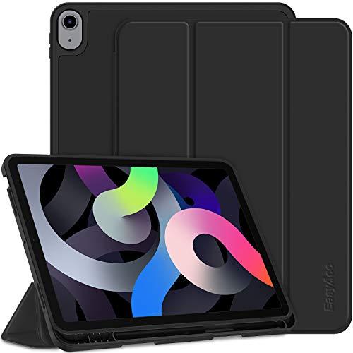 EasyAcc Cover Custodia Compatibile con iPad Air 4 Generation/iPad 10.9 2020, Ultra Sottile Smart Cover Case in Pelle con Sonno/Sveglia Funzione per iPad Air 4 Generation/iPad 10.9 2020 - Carbone Nero