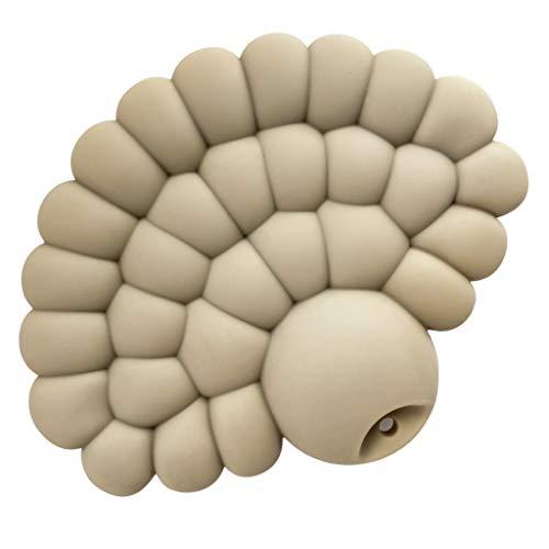Massaggia Gengive per neonati Dear Cass & Co - Massaggiagengive in silicone per bambini, 100% senza BPA, Massaggiagengive Neonati per la dentizione, Silicone Naturale + Comunità di Mamme (Sandy Beige)