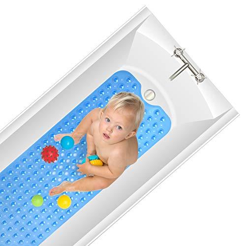 Antirutschmatte Badewanne, Arovene Extra Lang Badewannenmatte, Maschinenwaschbar Duschmatte mit Saugnäpfen 100x40cm für Kinder und Erwachsene