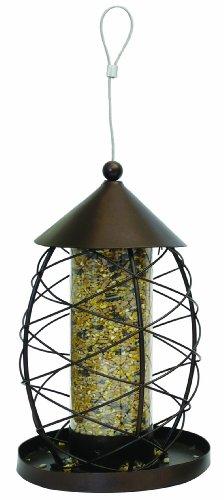 Rosewood Lanterne Ancienne Distributrice de Graines pour Oiseaux Sauvages