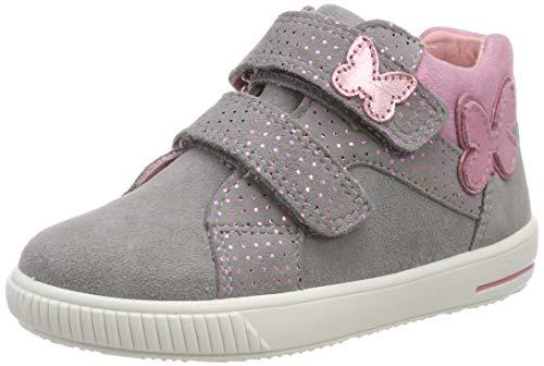 Superfit Baby Mädchen Moppy Sneaker, Grau (Hellgrau 25), 24 EU