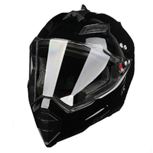 IAMZHL Schwarz glänzend Helm Motorrad Racing Fahrrad HelmDirt Bike Downhill MTB Cross Helm Kapazitäten SML XL XXL-Gloss black-5-XL