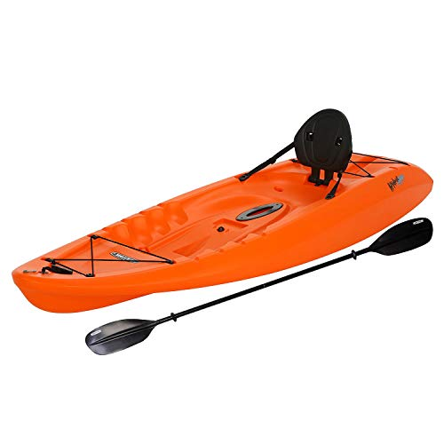 Evaxo 8'5' Sit-On-Top Kayak (Paddle Included) (Orange.)