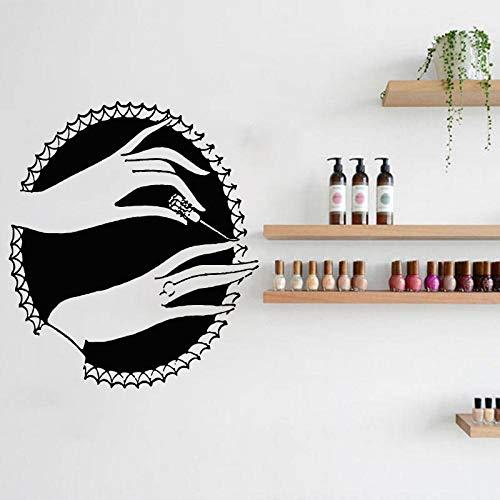 yaonuli Nail Stylist wandsticker schoonheid decoratie vinyl wandtattoo nail design wanddecoratie schoonheid hand sticker