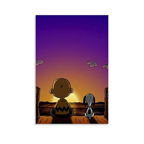 ASDH Papel De Parede Snoopy - Póster artístico de pared - Impresión de cuadro moderna - Decoración para habitación familiar - Póster - 50 x 75 cm