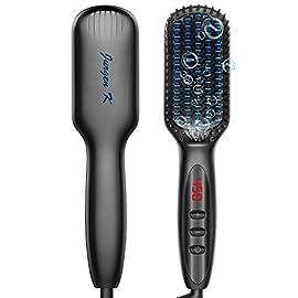 - 41gegIUu JL - JURGEN K Beard Straightener for Men, Ceramic & Ionic Heated Beard Comb Beard Straightener Brush