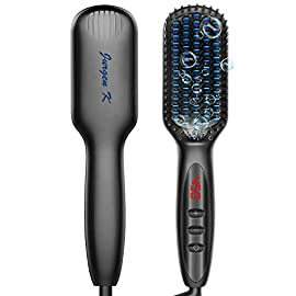 - 41gegIUu JL - JURGEN K Beard Straightener for Men,Ceramic &Ionic Heated Beard Comb Beard Straightener Brush yourhair - 41gegIUu JL - Home