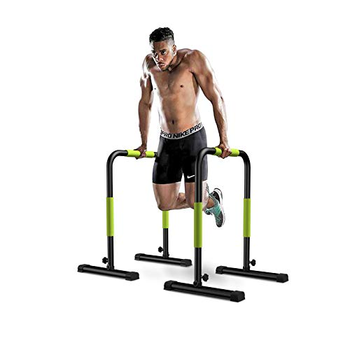 KFK Dip Stand Station, Heavy Duty Body Press Bar with Safety Connector for Tricep Dips