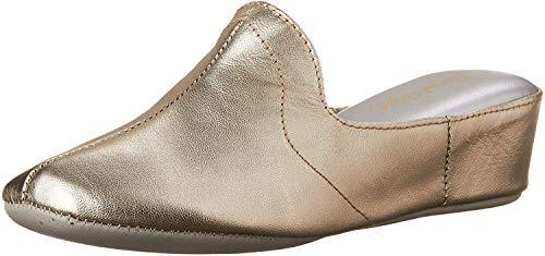 Daniel Green Women's Glamour Slipper,Pewter,7.5 M
