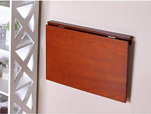 Klapptisch Wand-Esstisch Klappbarer Platzspar-Schreibtisch Faltbar 60 * 40 cm Kindertisch Schreibtisch (Farbe: Teak Farbe)