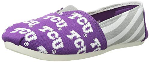 Texas Christian Horned Frogs NCAA Womens Stripe Canvas Shoes - S