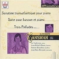 Sonatine Transatlantique Pour Piano Etc. by Alexandre Tansman (1998-10-01)
