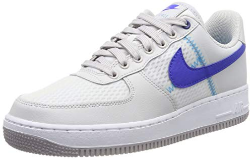 Nike Air Force 1 '07 Lv8 1fa19, Zapatos de Baloncesto Hombre, Gris (Atmosphere Grey/Racer Blue/Vapste Grey/Lt Current Blue/White 001), 49.5 EU