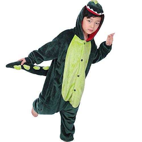 Aipark Pyjamas Animal en Flanelle pour Enfants, Combinaison Garçons Filles Costume Déguisement Cosplay Vêtements De Nuit 3-11 Ans