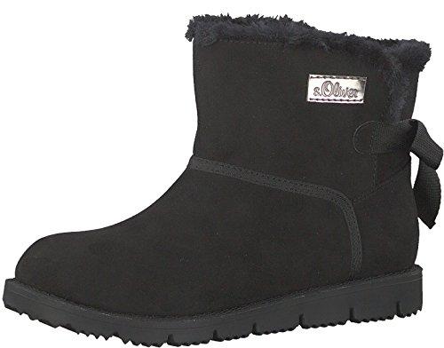 s.Oliver Damen Winter-Boots Schwarz Textil 38