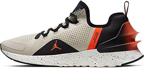 Jordan Herren React Havoc Sneaker, Light Bone/Hot Coral/Black/Pale Vanilla, 44 EU