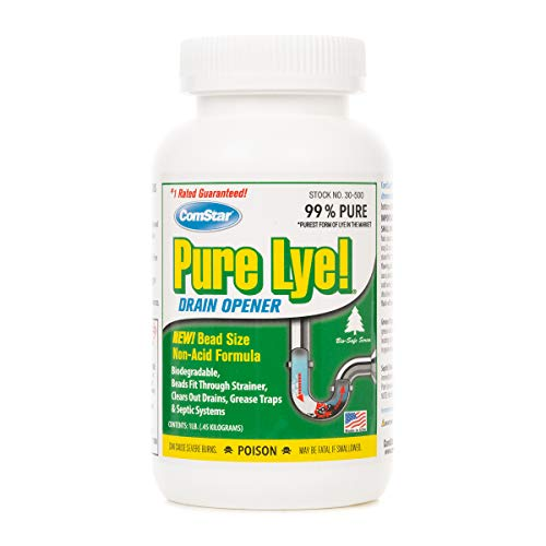 Product Image of the Comstar 024924305003 Pure Lye Bead Drain Opener, 1 lb, White