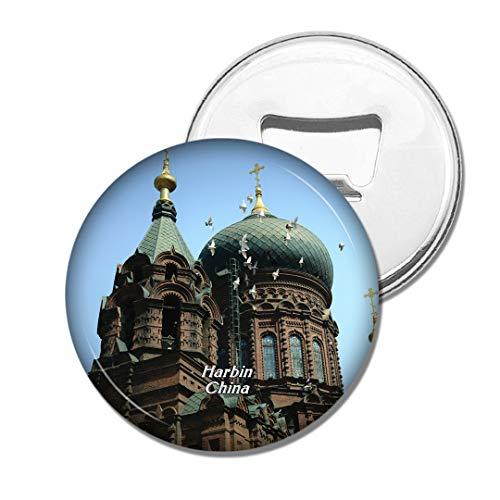 Weekino China St. Sophia Kathedrale Harbin Bier Flaschenöffner Kühlschrank Magnet Metall Souvenir Reise Gift