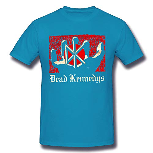 Dead Kennedys Men's Basic Short Sleeve T-Shirt Fashion Printed Casual Short Sleeve Cotton Spider Baby Blue 6XL