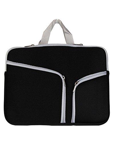 Laptop Tasche/Aktentasche für Laptop/Hülle Tasche Laptophülle Notebooktasche Schutzhülle für Apple Mac Book/ipad/Lenovo/Dell/Samsung/Asus/Acer/Hp 10zoll Schwarz