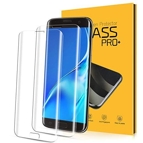 YIEASY Panzerglas für Samsung Galaxy S7 Edge Schutzfolie[2 Stück], 9H Festigkeit 3D Curved Vollständige Abdeckung Panzerglasfolie S7 Edge, Anti-Kratzen Ultra-klar Blasefrei Bildschirmschutzfolie Folie S7 Edge