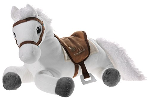 Bibi & Tina 637672 Sabrina the Horse Stuffed Animal, in Lying Position, White / Brown