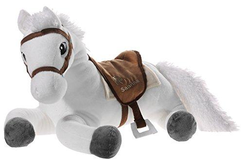 Bibi & Tina 637672 Plüschtier, Pferd, weiß mit braun