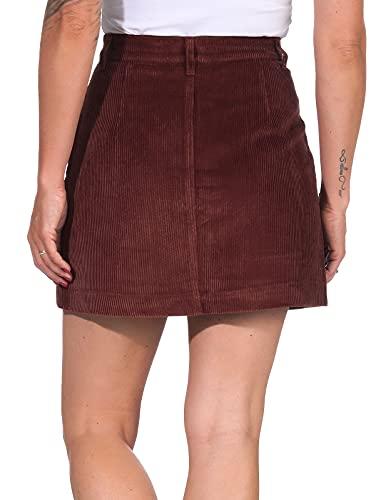 Only Onlamazing HW Corduroy Skirt Pnt Noos Falda, Marrón (Coffee Bean Coffee Bean), 42 (Talla del Fabricante: Large) para Mujer