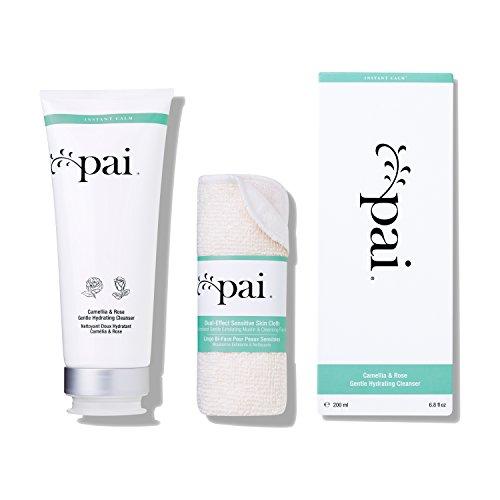 Pai Skincare Kamelien und Rose Hydratisierender Reiniger + Tuch mit Omega 3 und Vitaminen A, B, C und E für Empfindliche Haut - Alkohol Frei - 200ml
