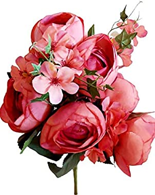 Parradise Artificial Flowers Peonies Decoration Pack of 1