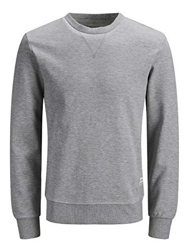 Jack & Jones JJEBASIC Sweat Crew Neck Noos Sudadera, Color Gris Claro. Ajuste: Reg, L para Hombre