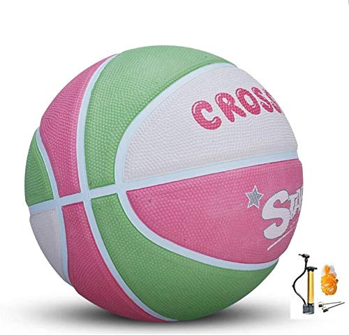 Find Discount ZHOU.D.1 Basketball- Children's Rubber Wear-Resistant Basketball NO.4-5-6 Indoor and O...