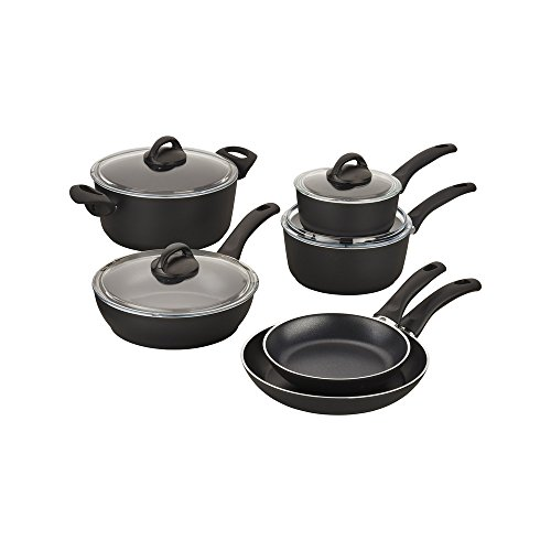 BALLARINI Pisa Forged Aluminum Nonstick Cookware Set, Black