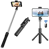 Extendable Selfie Stick Tripod Stand with Bluetooth Remote