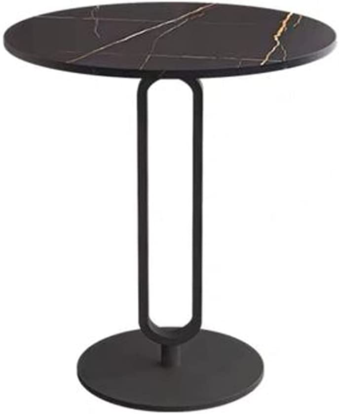 Diaod Tabla de la eslabia de la Placa de Roca Sofá de la Esquina de la Esquina Simple Mesa de café Simple (Color : Black+Black)