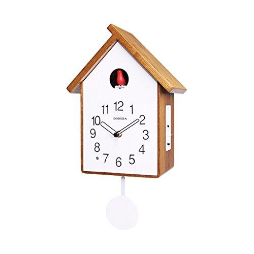 Reloj decorativo Reloj de pared Control de luz inteligente, cuco péndulo del reloj de pared for no tictac silenciosa del reloj de cuarzo for el hogar / oficina / escuela - 12 pulgadas reloj de pared d