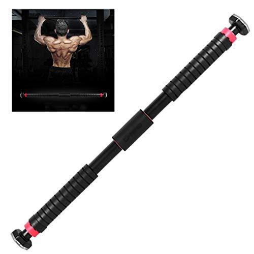Apparatuur voor krachttraining Horizontale balk op indoor deur pull-up apparaat home gym volwassene wall-vrije wand sporter zonder gewicht, 300kg (Color : Black, Size : 65-90cm)