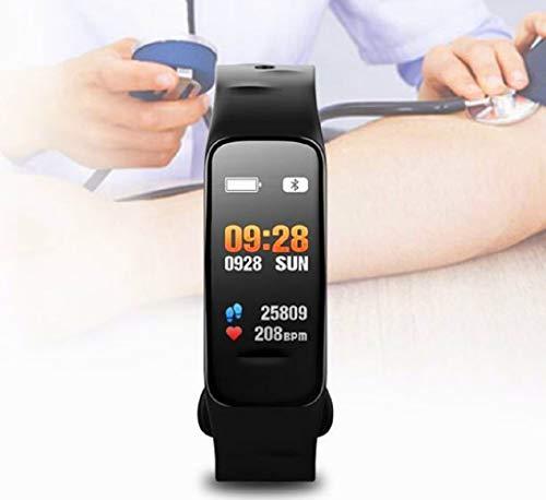 Atlanta Fitness Tracker mit Herzfrequenz GPS Pulsmesser Blutdruck Sauerstoff Farbdisplay Smartwatch Armband Uhr 9702 (Schwarz)