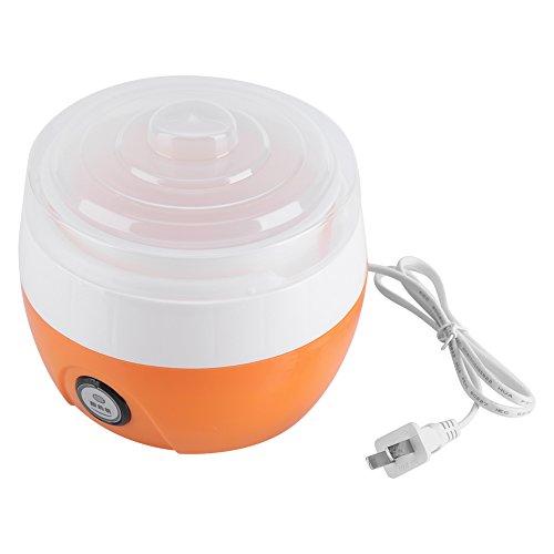 CHICIRIS Automatischer Joghurtbereiter, Kunststoff 1L Kapazität Automatischer Joghurtbereiter Maschine Joghurtbereiter, für Home Resraurant Kitchen Cafe(orange, pink)