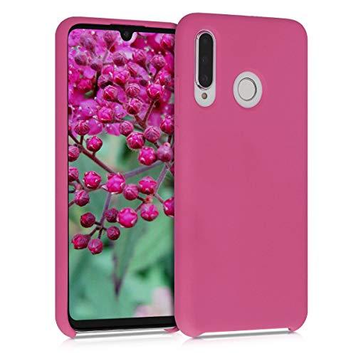 kwmobile Cover Compatibile con Huawei P30 Lite - Cover Custodia in Silicone TPU - Back Case Protezione Cellulare Rosso Carminio