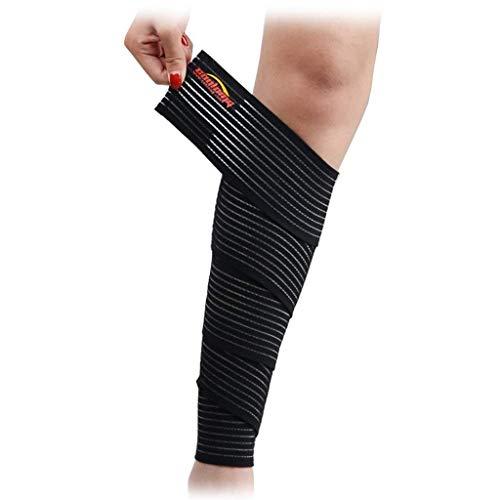 COOLOMG Damen Herren Stützbandagen Kniebandage Handgelenkbandage mit Klettverschluss für Stabilität beim Sport Schwarz 200 * 7.5CM (1 Stück)