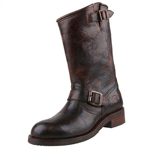 Sendra Boots, Stivali da motociclista uomo, Marrone (Braun/Antik), 45
