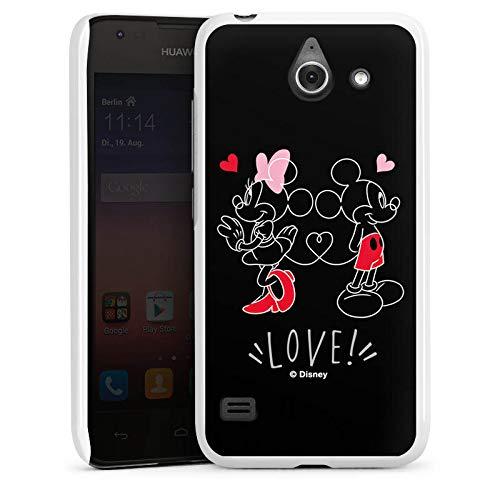 DeinDesign Hülle kompatibel mit Huawei Ascend Y550 Handyhülle Case Mickey und Minnie Mouse Liebe Disney