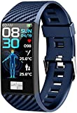 Reloj Inteligente 1 14 pulgadas pantalla Fitness Tracker deportes podómetro pulsera personalizada mensaje push recordatorio inteligente IP68 impermeable 120mAh-azul
