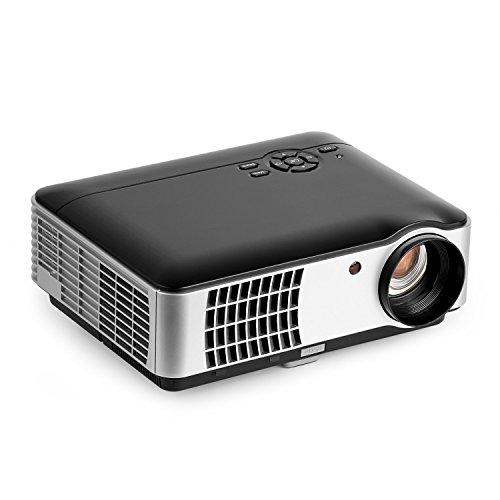 OCDAY 2800 Lumen Full Hd Beamer Projektor, 1080P Led Projektor Lcd Heimkino Videoprojektor 1280 × 800 Native Auflösung Unterstützt 1080P Tv Av Hdmi Vga Usb 2800 Lumen